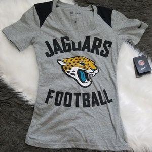 New! NFL Jaguars Football V Neck T-Shirt